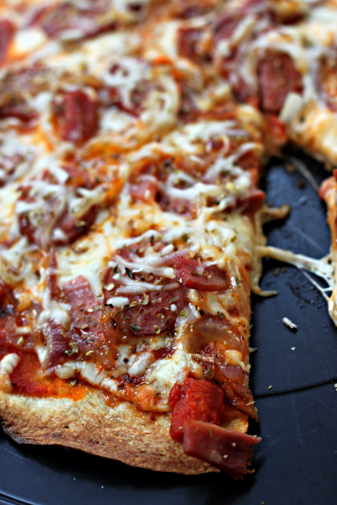National Cheese Pizza Day | Spicy Meat & Cheese Pizza