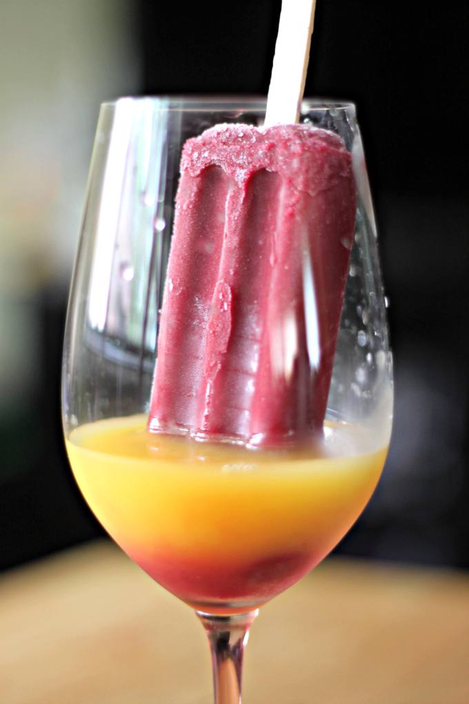 National Blueberry Popsicle Day | Berry Screwdriver