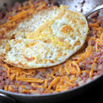 National Corned Beef Hash Day | Corned Beef, Cheese, and a Fried Egg