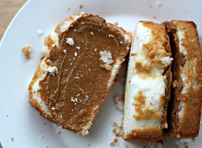 National Angel Food Cake Day | Almond-Infused Angel Food Cake with Biscotti Spread