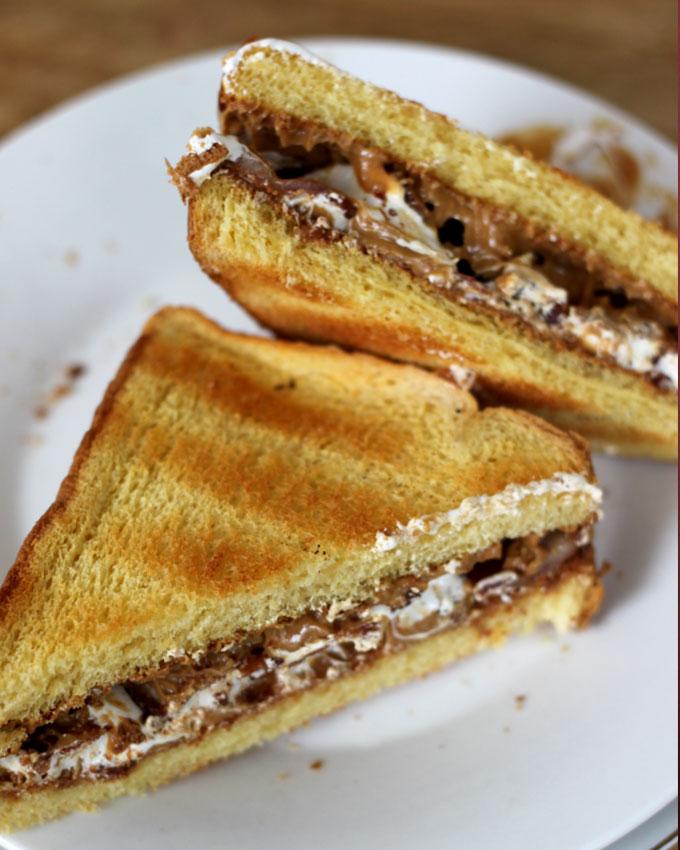 National Fluffernutter Day | Fluffernutter Sandwich with Bacon