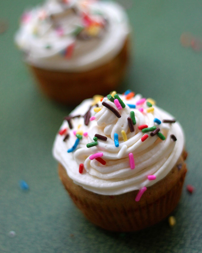 National Vanilla Cupcake Day | Vanilla Cupcake for One
