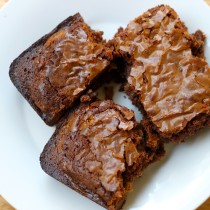 National Chocolate Brownie Day | Peanut Butter-Stuffed Milk Chocolate Brownie