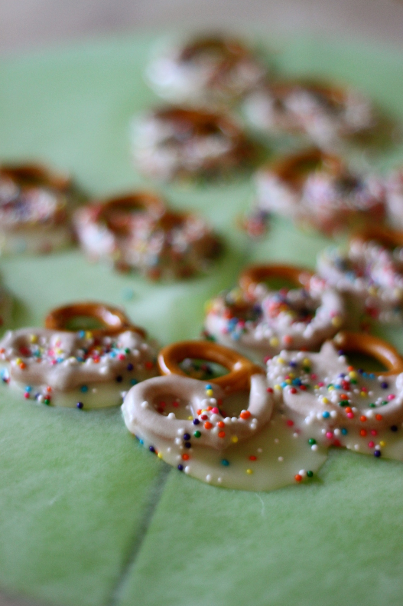 National Chocolate-Covered Anything Day | White Chocolate Pretzels