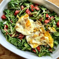 Shaved Asparagus Salad w/Shallots and Fried Eggs