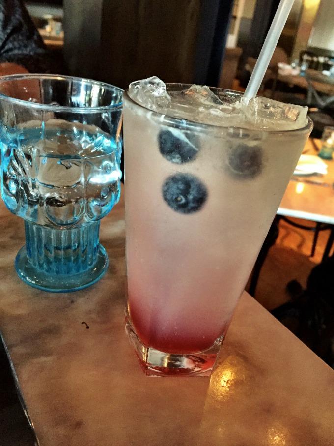 Ballerina & the Czar: Russian Standard vodka, cucumber water, blueberry honey, lime, and soda
