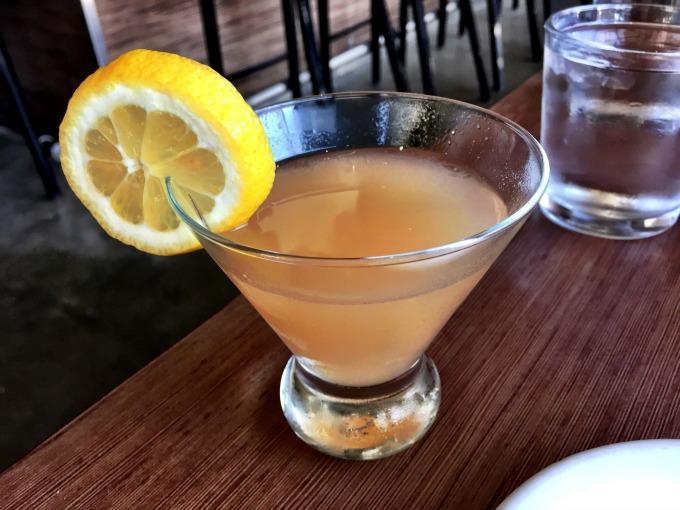 Gin-Gin: Gin, Ginger, Peach, Limoncello, Angostura Bitters