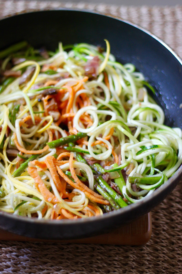 Sauteed Spiralized Vegetables