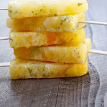 Pineapple, Apricot & Basil Popsicles