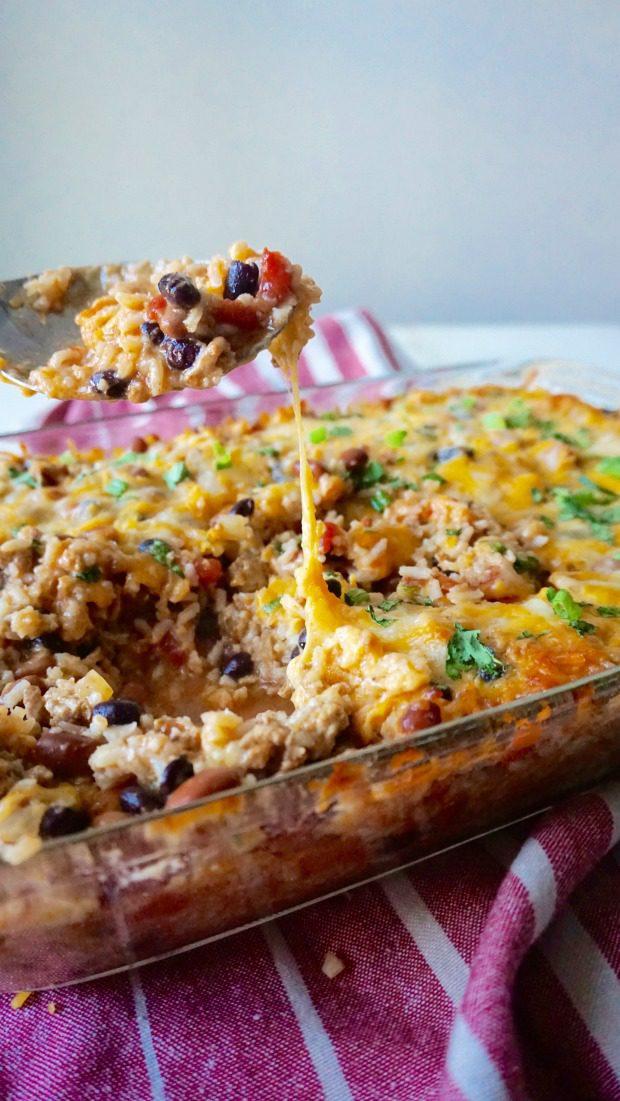 burrito-bowl-casserole-cheese-pull