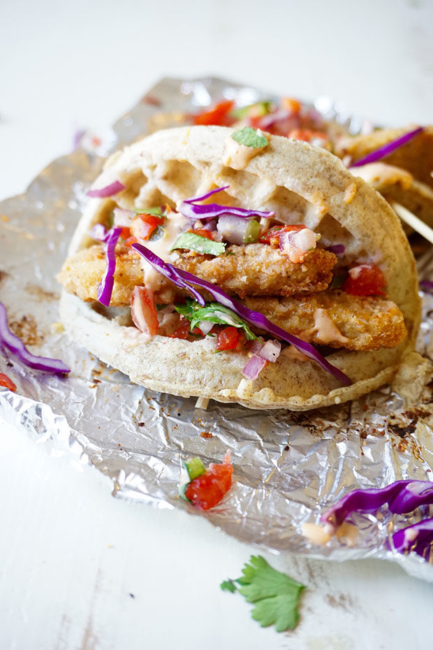 Chicken and Waffle Tacos recipe