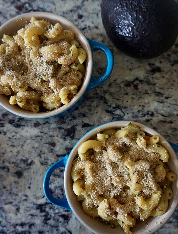 Baked Avocado Macaroni and Cheese recipe