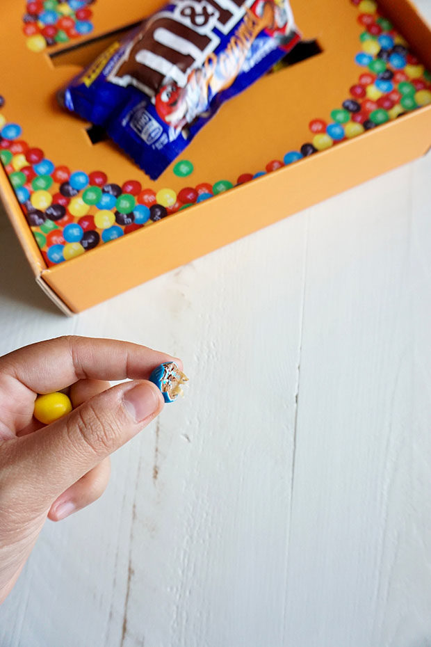 Caramel M&M's candies