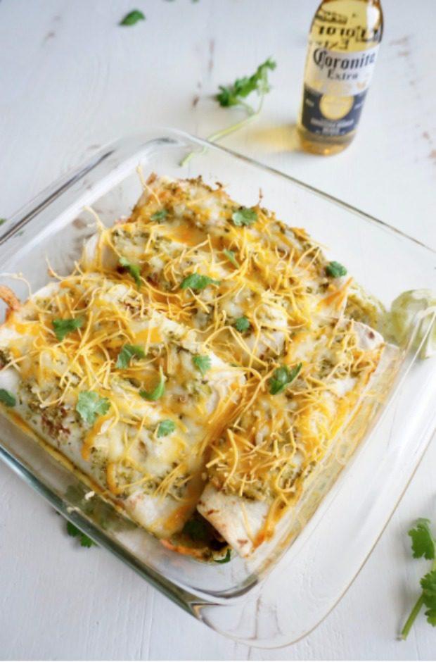 corona beer enchiladas