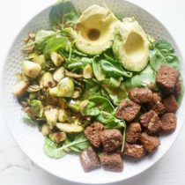greens salad with homemade dressing