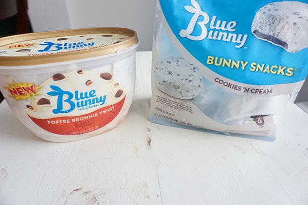 Blue Bunny ice cream and snacks
