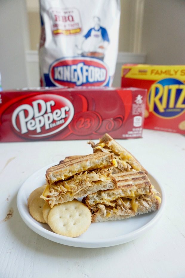 Dr Pepper Chicken Grilled Cheese Sandwiches