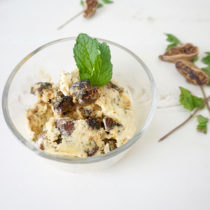Roasted Fig and Mint Ice Cream