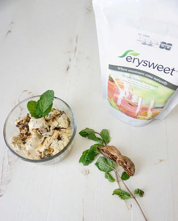 Roasted Fig and Mint Ice Cream recipe