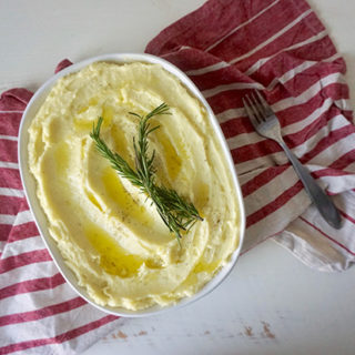 Rosemary and Garlic Olive Oil Mashed Potatoes