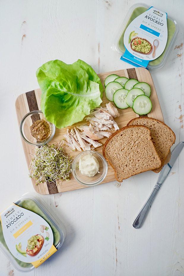 Avocado Sandwich with Wholly Simply Avocado