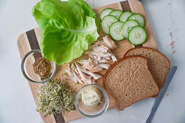 Avocado and Greens Sandwich