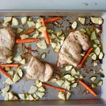 Sheet pan greek grilled chicken and veggies