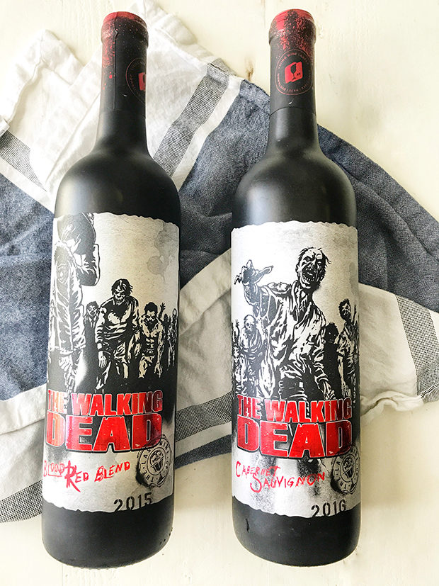 The Walking Dead Living Wines labels