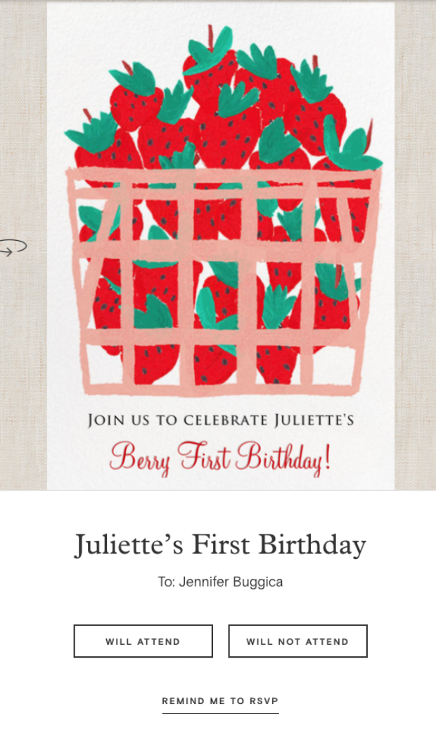 A First Birthday Party Invitation On Paperless Post
